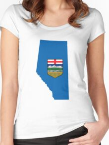 Alberta Flag Map Women's Fitted Scoop T-Shirt