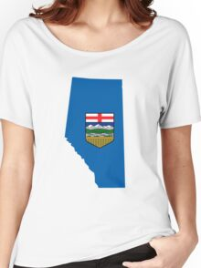 Alberta Flag Map Women's Relaxed Fit T-Shirt
