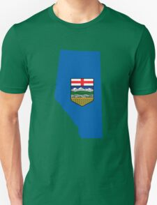 Alberta Flag Map Unisex T-Shirt