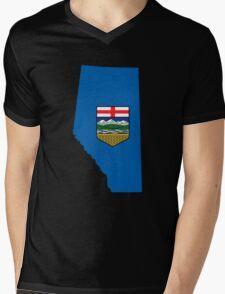 Alberta Flag Map Mens V-Neck T-Shirt
