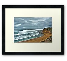 Bells Beach Smooth Wednesday Framed Print