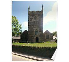 MULLION ST MELLANUS CHURCH CORNWALL UK Poster