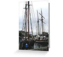 Pacific Schooners Greeting Card