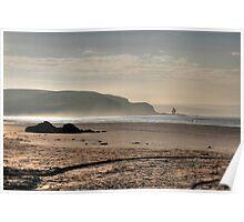 Bigbury on Sea beach Poster