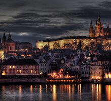 Prague Castle and Hradcany by Stevacek