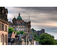 The view from the Scotsman Photographic Print