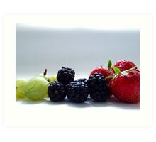 Berry Mix Art Print