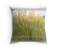 Just dropping you a line.... Throw Pillow
