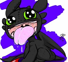 Baby toothless by Jamonred