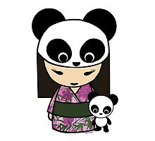 Kokeshi Doll with Panda by monkeyhut