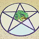 Pentacle & Frog by peyote