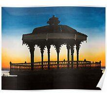 Brighton bandstand, Brighton,England Poster