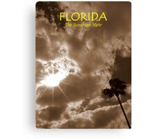 Florida, The Sunshine State ~ Part One Canvas Print