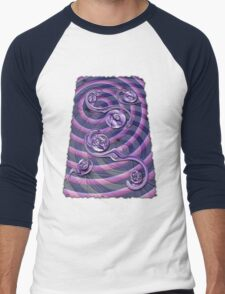 Violet Wake Men's Baseball ¾ T-Shirt