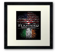 Flannery - American Grown with Irish Roots Framed Print