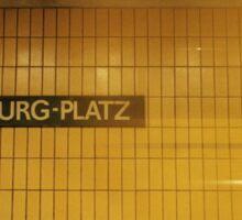 U-Bahnhof Rosa-Luxemburg-Platz Sticker