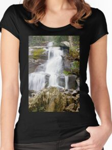 Beautiful Water Falls Women's Fitted Scoop T-Shirt