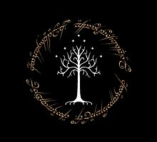 Ringed Gondor's Tree Black Edition by mikelpegel