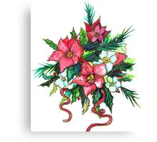 Christmas Flowers Canvas Print