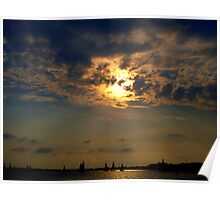 Sailboats Serene on the Water    Poster