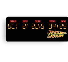 October 21, 2015 in DeLorean Numbers  Canvas Print