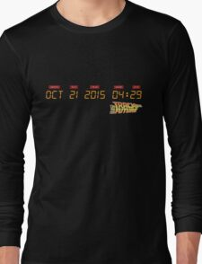 October 21, 2015 in DeLorean Numbers  Long Sleeve T-Shirt