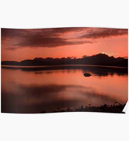 Sunset over The Cuillins Poster