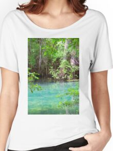 Through the Cypress Trees Women's Relaxed Fit T-Shirt