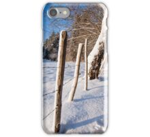 Rural winter scene iPhone Case/Skin