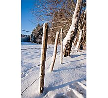 Rural winter scene Photographic Print