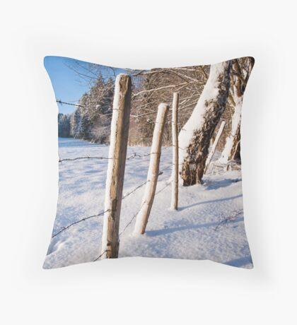 Rural winter scene Throw Pillow