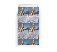 Rural winter scene Duvet Cover