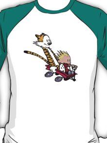 Calvin and Hobbes Go Kart T-Shirt