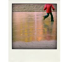 Playing in the rain... Photographic Print