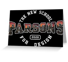 Parsons - the new school for design pink sunset print Greeting Card
