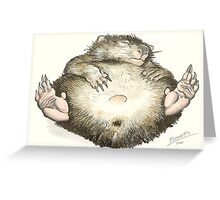 Lazy Wombat Greeting Card