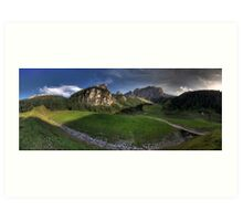 Panoramic Mountains Art Print