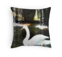 Swan Glide Throw Pillow