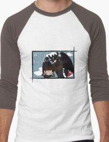 HICCUP & TOOTHLESS Men's Baseball ¾ T-Shirt