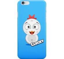 Farm Animal Fun Games - Clucky - Blue Gradient iPhone Case/Skin
