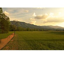 Cades Cove Sunset Photographic Print