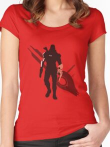 Commander Shepard (Male) - Sunset Shores Women's Fitted Scoop T-Shirt