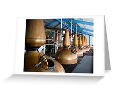Whisky distillery stills Greeting Card