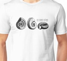Math Spiral Shells Unisex T-Shirt