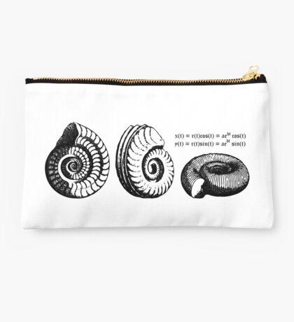Math Spiral Shells Studio Pouch