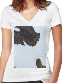 Eagle Lift Off Women's Fitted V-Neck T-Shirt
