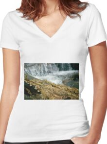 Fungus Falls Women's Fitted V-Neck T-Shirt