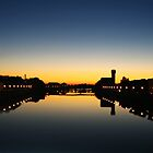 Sunset on the Arno river by Vittorio Magaletti
