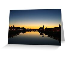 Sunset on the Arno river Greeting Card