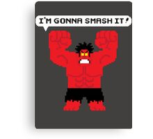 I'm Gonna Smash It! Red Hulk alt. Canvas Print